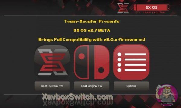 Mise à jour SX OS 2.7 beta